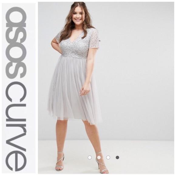 5d92000f76260 Maya Plus Sequin   Tulle Midi Dress